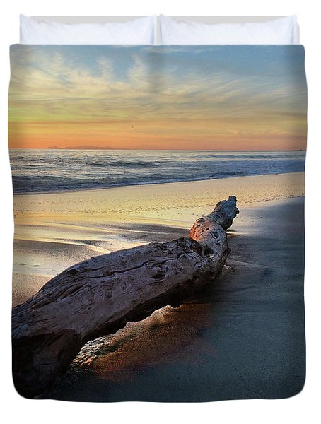 Drift Wood At Sunset II Duvet Cover