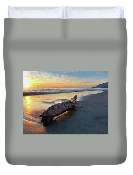 Drift Wood At Sunset II Duvet Cover