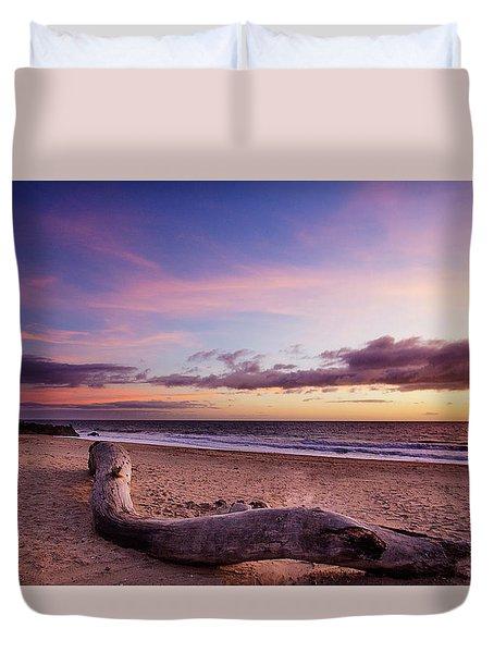 Driftwood At Sunset Duvet Cover