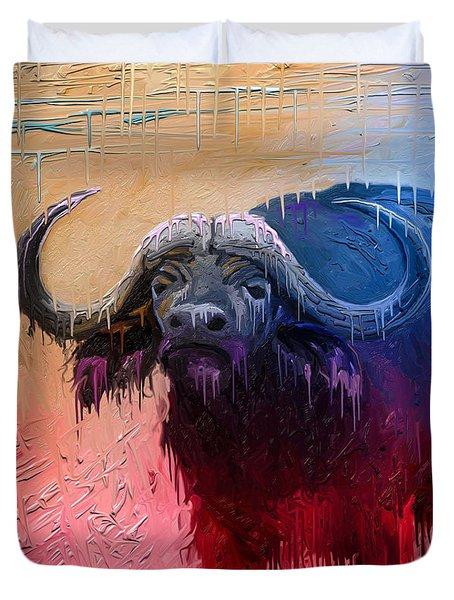 Dripping Buffalo Duvet Cover