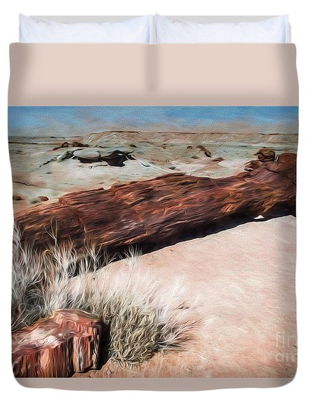 Duvet Cover featuring the photograph D R T In Arizona by Jon Burch Photography