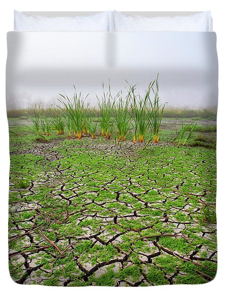Dry Duck Pond Duvet Cover