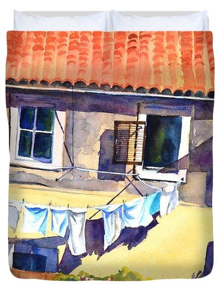Drying In The Sun Duvet Cover