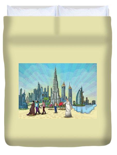 Dubai Illustration  Duvet Cover