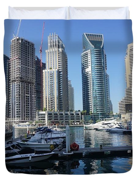 Dubai Marina Duvet Cover