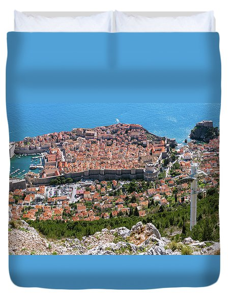 Dubrovnik Panorama From The Hill Duvet Cover