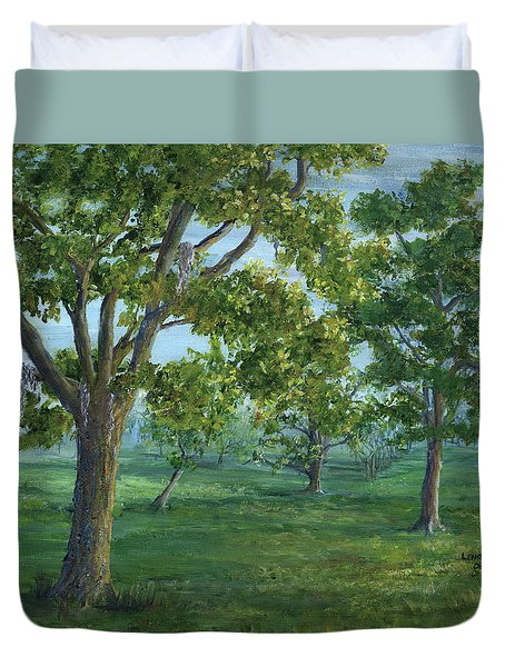 Dueling Grounds New Orleans Louisiana Duvet Cover