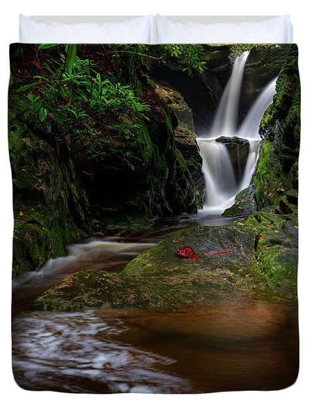 Duggers Creek Falls - Blue Ridge Parkway - North Carolina Duvet Cover