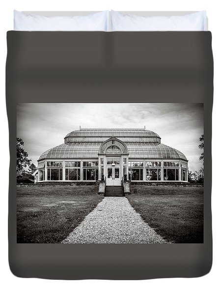 Duvet Cover featuring the photograph Duke Farms Conservatory by Steve Stanger