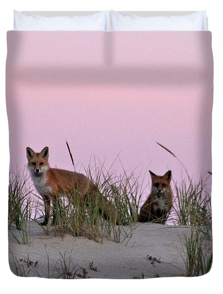 Dune Foxes Duvet Cover