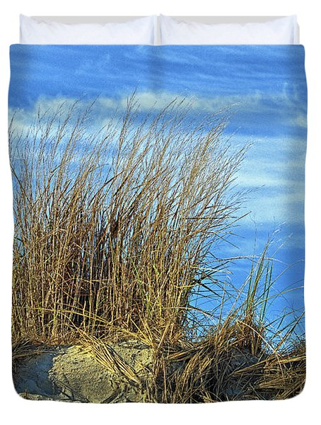 Duvet Cover featuring the photograph Dune Grass In The Sky by Bill Swartwout Fine Art Photography
