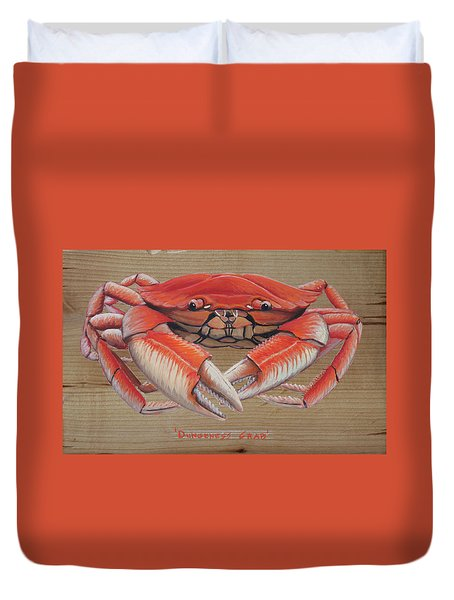 Dungeness Crab Duvet Cover