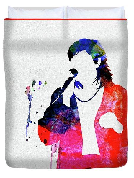 Duran Duran Watercolor Duvet Cover