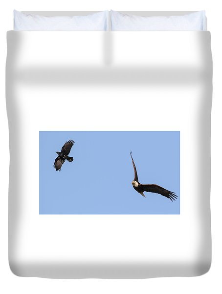 Eagle And Crow  Duvet Cover