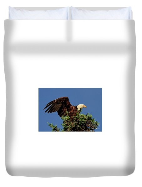 Eagle In Treetop Duvet Cover