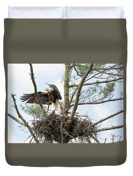 Eagle Landing Duvet Cover