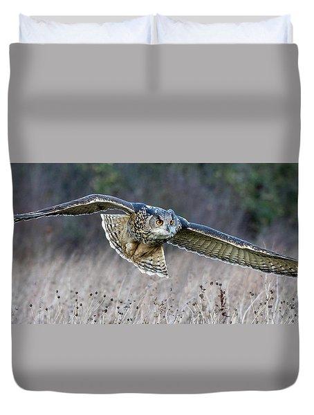 Eagle Owl Gliding Duvet Cover