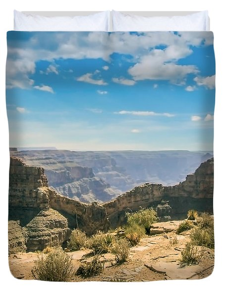 Eagle Rock, Grand Canyon. Duvet Cover