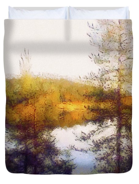 Early Autumn In Finland Duvet Cover