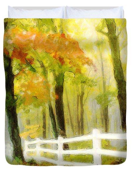 Early Autumn Morning Duvet Cover
