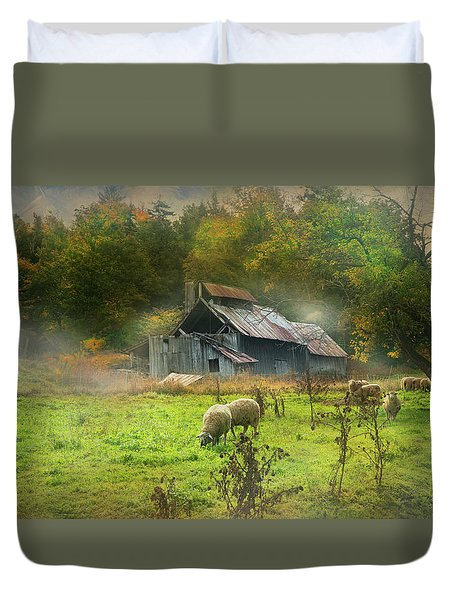 Early Morning Grazing Duvet Cover