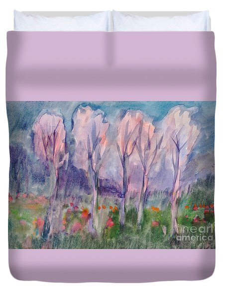 Early Morning In The Forest Duvet Cover