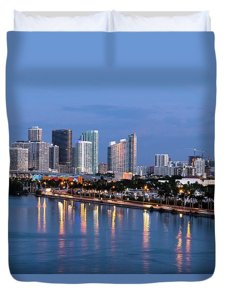 Early Rise Miami Duvet Cover