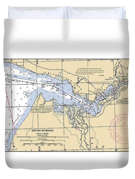 East Bay Extension Noaa Chart 11385_5 Duvet Cover