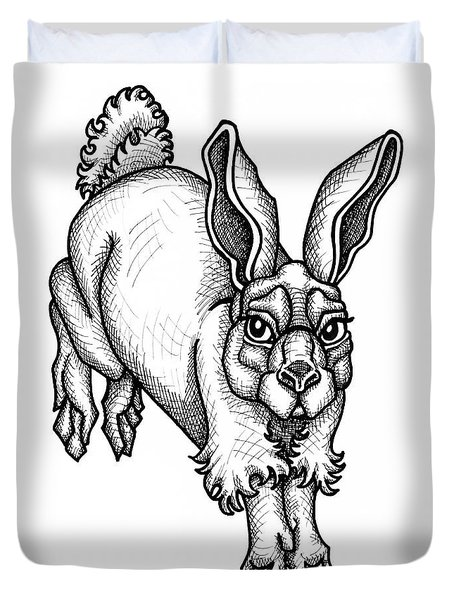 Eastern Cottontail Duvet Cover