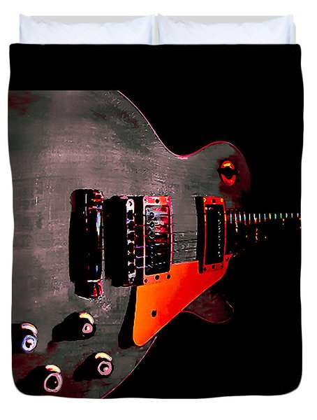 Ebony Relic Guitar Hover Series Duvet Cover