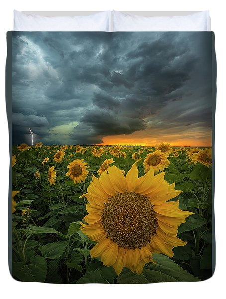 Duvet Cover featuring the photograph Eccentric  by Aaron J Groen