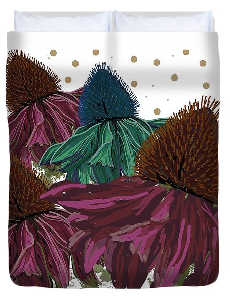 Echinacea Flower Skirts Duvet Cover