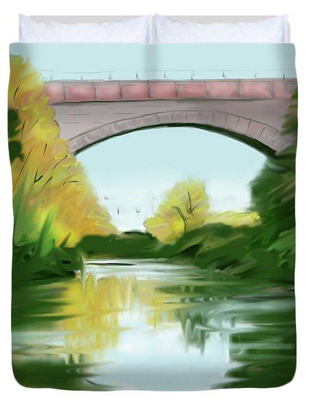 Echo Bridge Duvet Cover