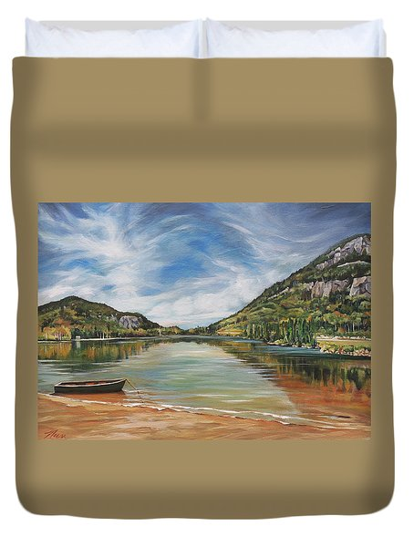 Echo Lake Franconia Notch In White Mountain Region Duvet Cover