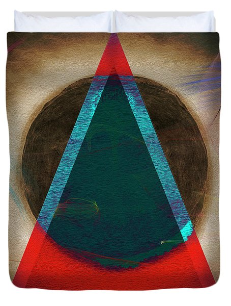 Duvet Cover featuring the digital art Eclipse 2024 by Edmund Nagele