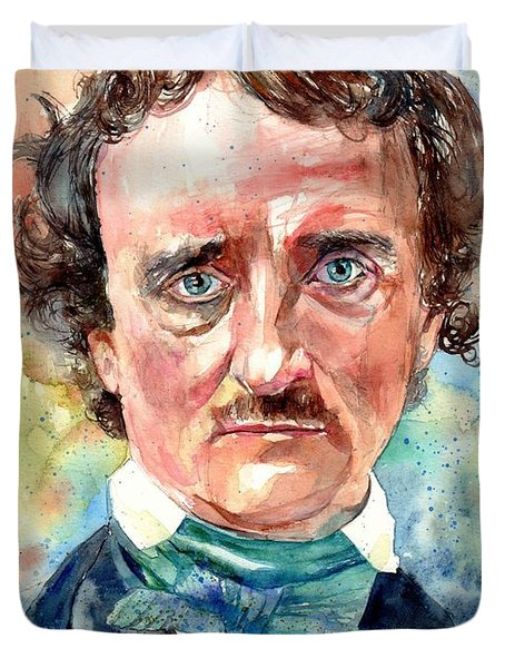 Edgar Allan Poe Portrait Duvet Cover