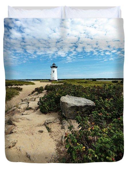 Edgartown Lighthouse Marthas Vineyard Duvet Cover