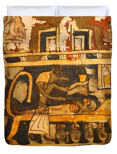 Egyptian Wall Art Duvet Cover