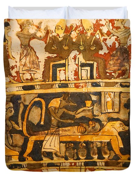Egyptian Wall Art Duvet Cover