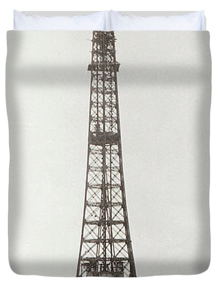 Eiffel Tower, Paris, 12th February And 12th March 1889 Duvet Cover