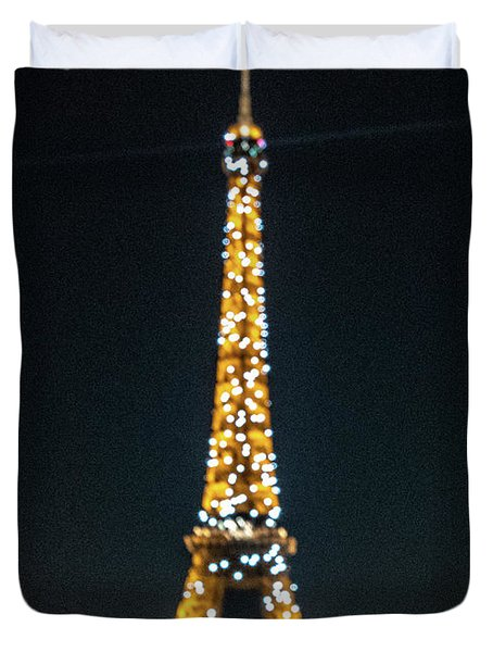 Duvet Cover featuring the photograph Eiffel Tower by Randy Scherkenbach