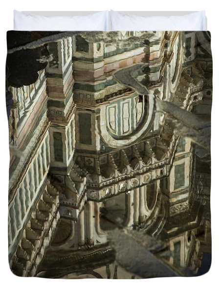 el Duomo The Florence Italy Cathedral Reflections Duvet Cover