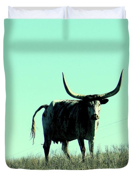 El Toro, Nature, Texas,longhorn  Duvet Cover