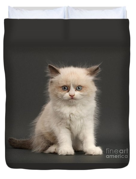 Duvet Cover featuring the photograph Electric Kitten by Warren Photographic