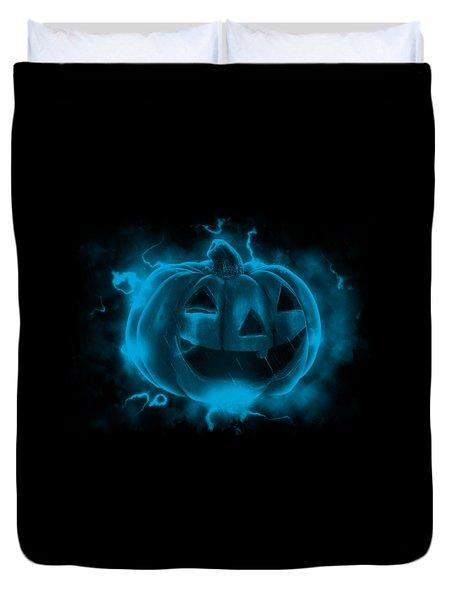 Electric Pumpkin Duvet Cover