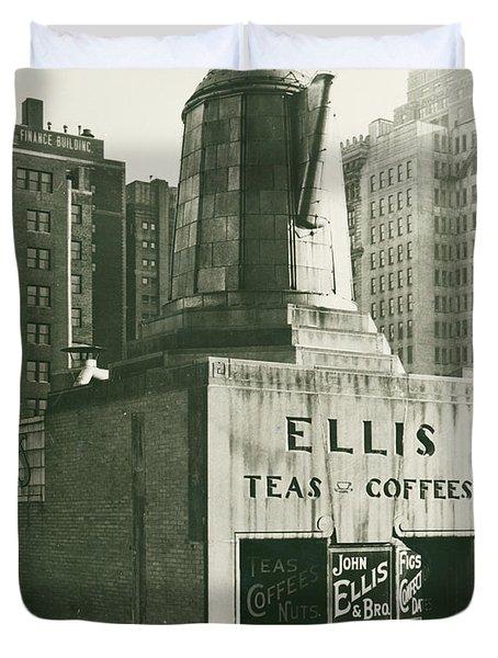 Ellis Tea And Coffee Store, 1945 Duvet Cover