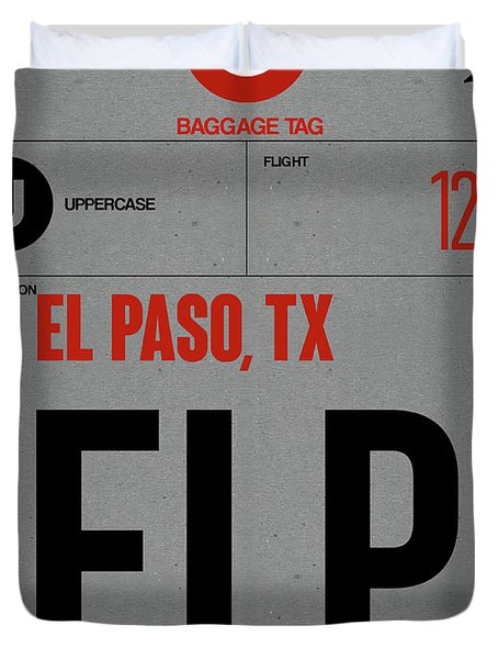 Elp El Paso Luggage Tag I Duvet Cover