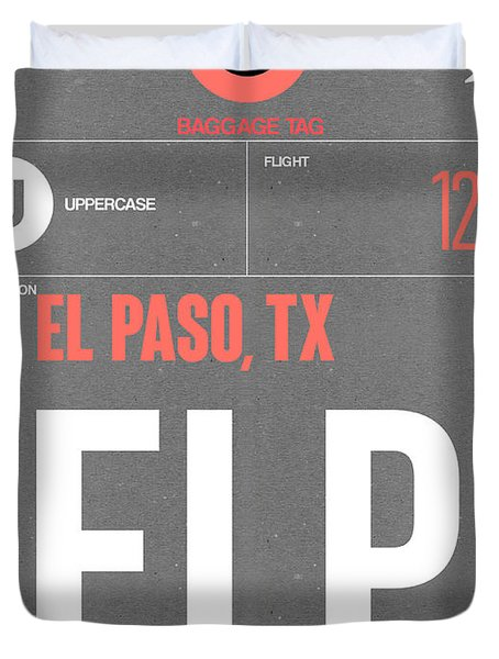 Elp El Paso Luggage Tag II Duvet Cover