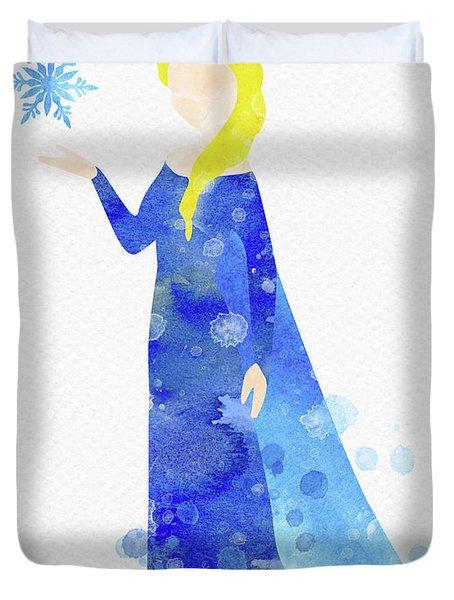 Elsa Watercolor Duvet Cover