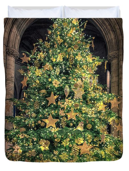 Ely Cathedral Christmas Tree 2018 Duvet Cover